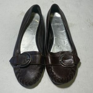 Alfani brown flats with strap on top, size 6.5M